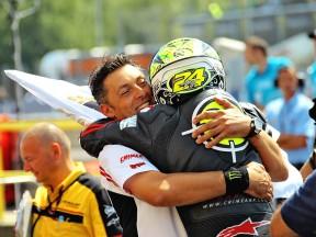 Cecchini and Elias celebrate GP win at Brno