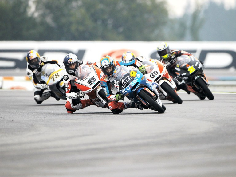 125cc group in action in Brno