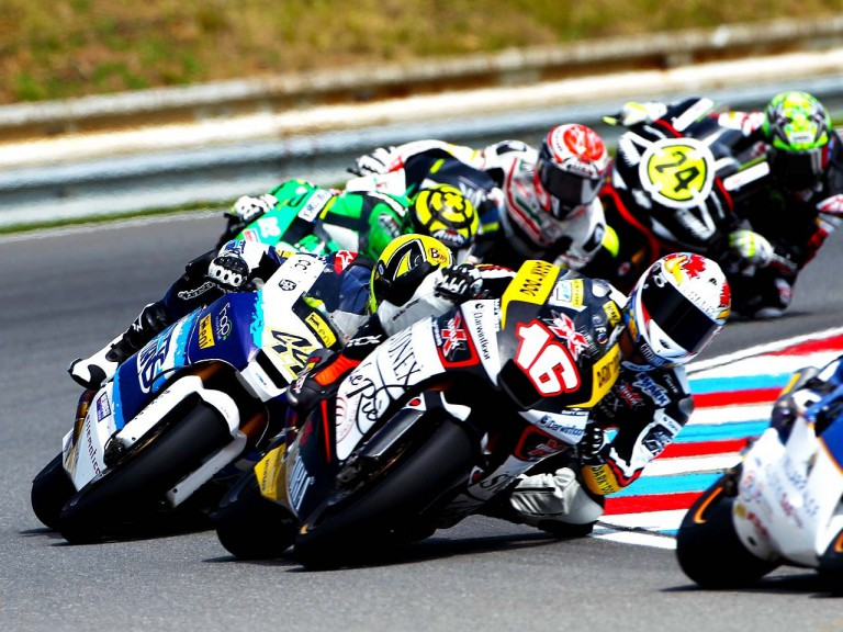 Jules Cluzel riding in action in Brno