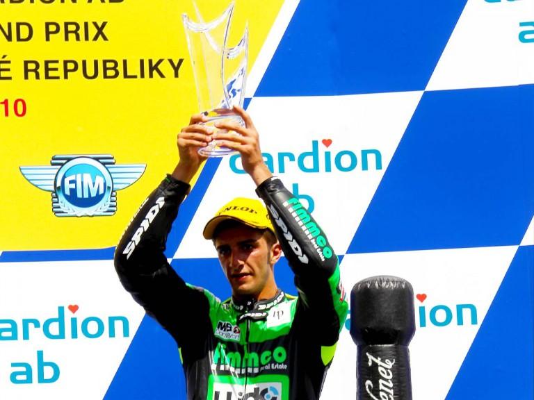 Iannone on the podium in Brno