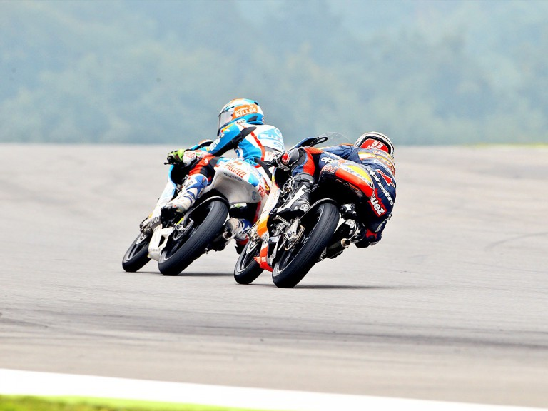 Rabat riding ahead of Marquez in Brno