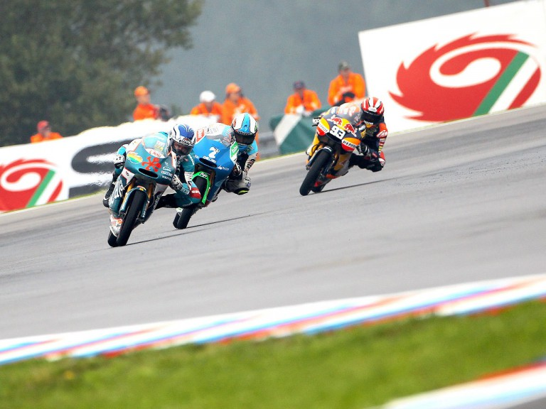 Terol, Vazquez and Marquez in action in Brno
