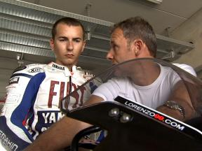 Jorge Lorenzo gets a first taste of Motorland Aragon