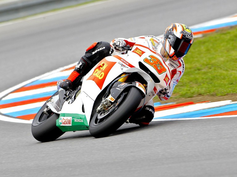 Marco Melandri in action at Brno