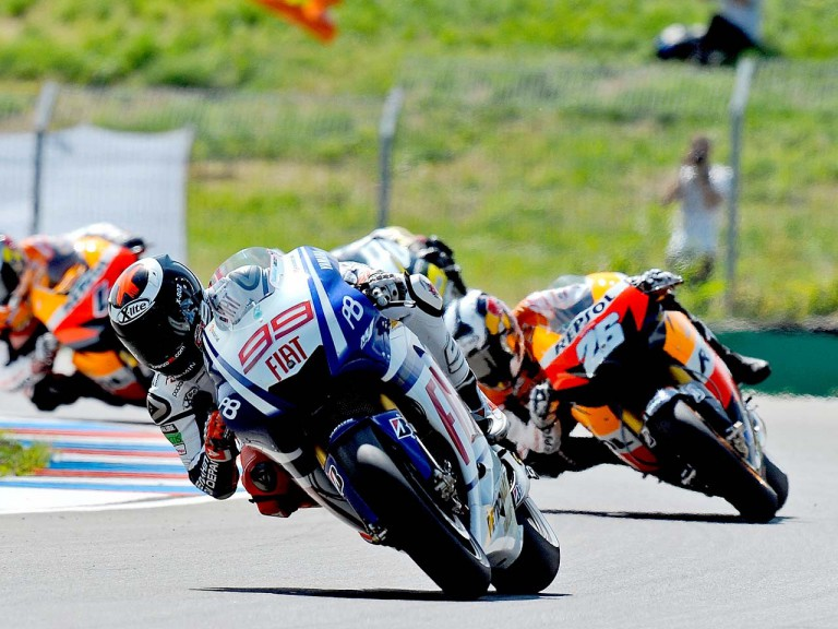 Lorenzo riding ahead of Pedrosa