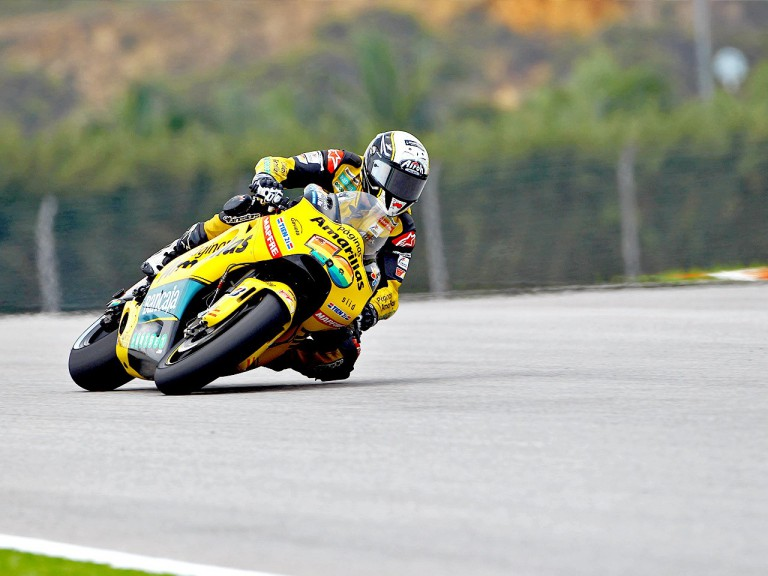Héctor Barberá in action at Sepang