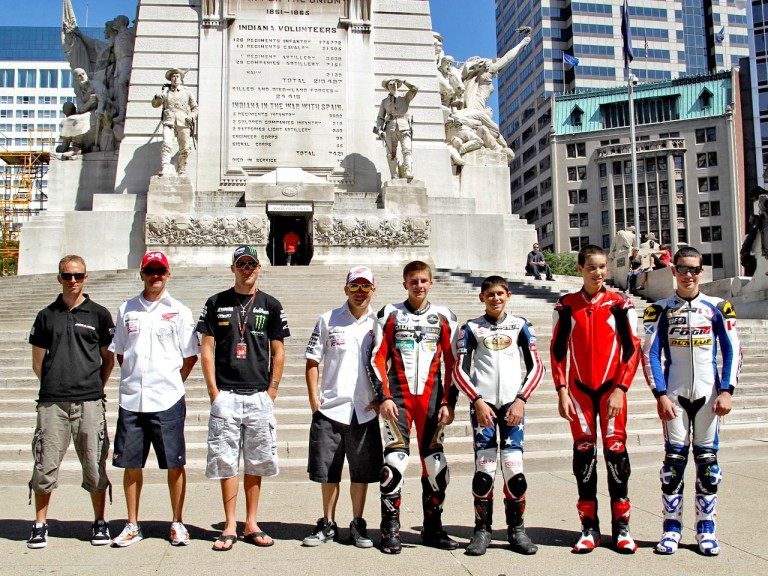 Red Bull Indianapolis GP press conference at Monument Circle in Indianapolis