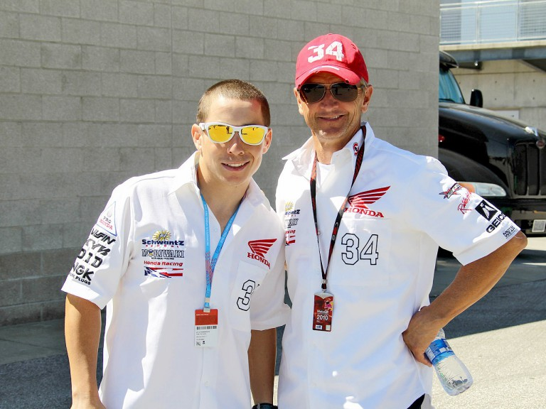 Roger Lee Hayden and 1993 500cc World Champion Kevin Schwantz at Indianapolis