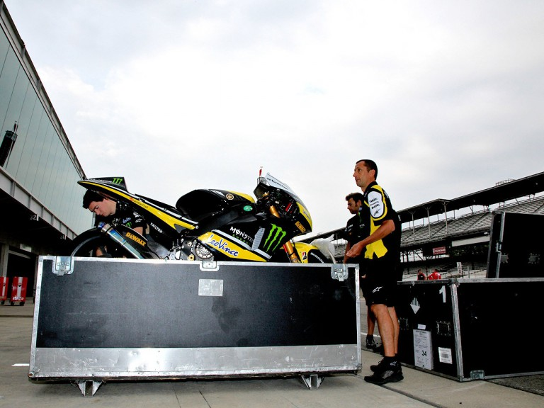 MotoGP crews setting up at Indianapolis