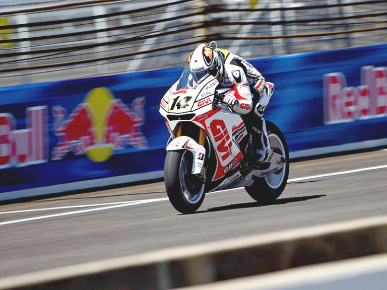 Randy de Puniet in action at Indianapolis
