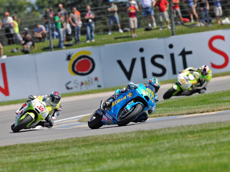 MotoGP group in action at Indianapolis