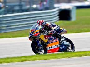 Marc Marquez in action at Indianapolis