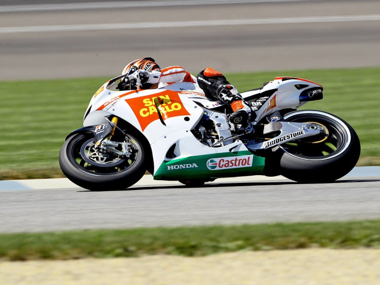 Marco Melandri in action at Indianapolis