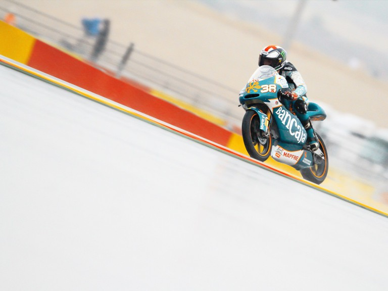 Bradley Smith in action at Motorland Aragón