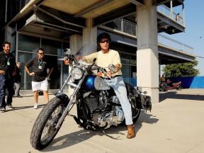 Indiana Governor Mitchell E. Daniels Jr visits MotoGP at Indianapolis