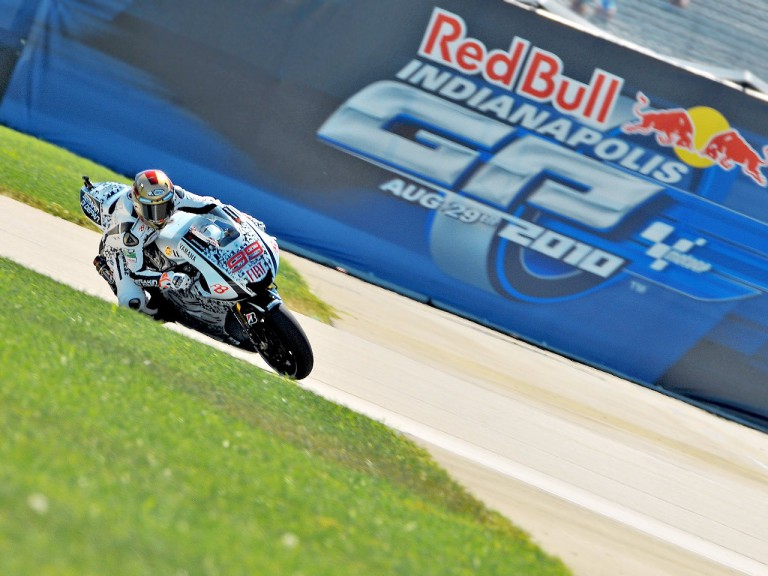 Jorge Lorenzo in action at Indianapolis