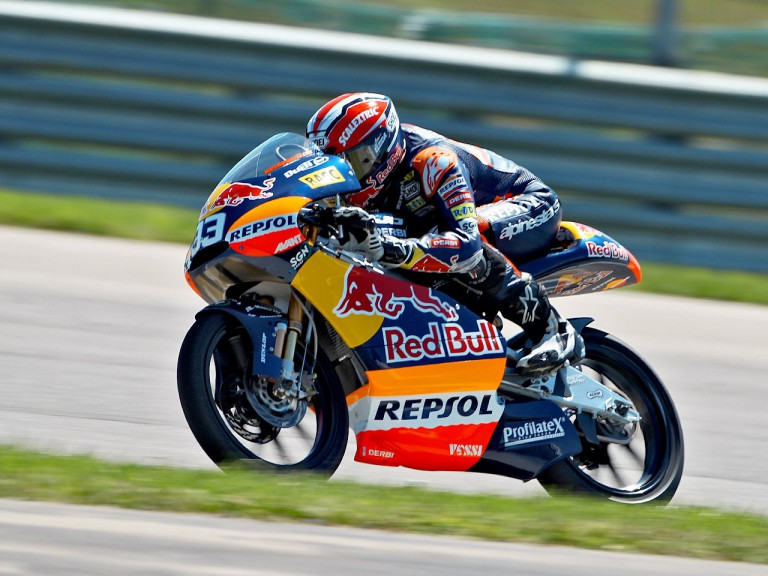Marc Márquez in action at Indianapolis