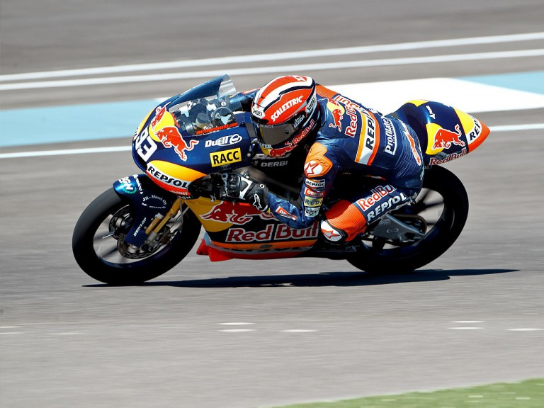 Marc Marquez on track at Indianapolis