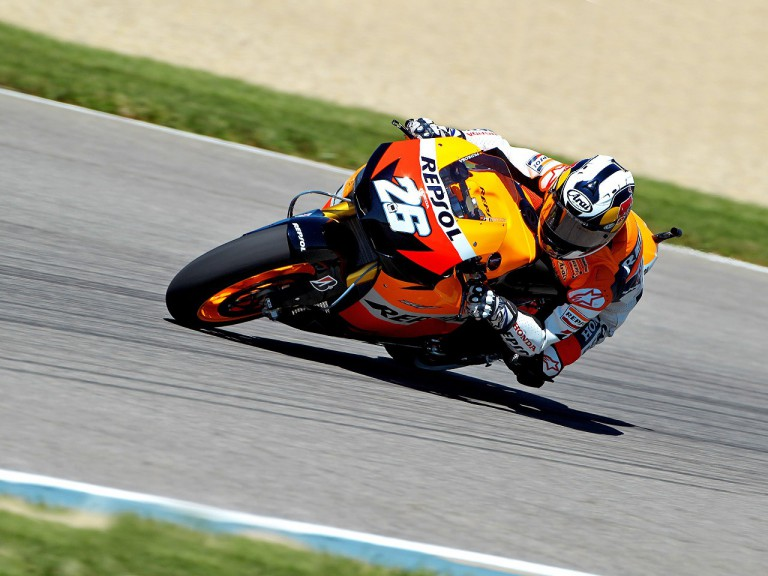 Dani Pedrosa on track at Indianapolis