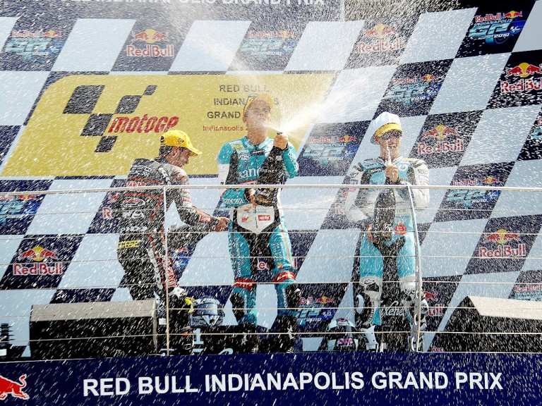 Cortese, Terol and Espargaró on the podium at Indianapolis