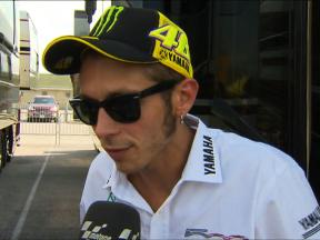 Rossi happy with fourth after tough weekend