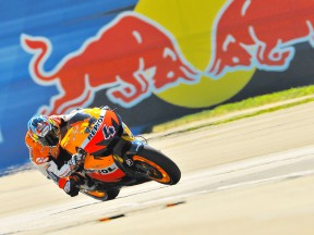 Andrea Dovizioso in action at Indianapolis