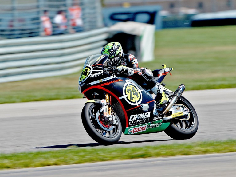 Toni Elías in action at Indianapolis