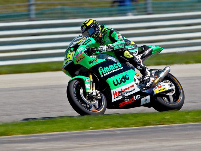 Andrea Iannone in action at Indianapolis
