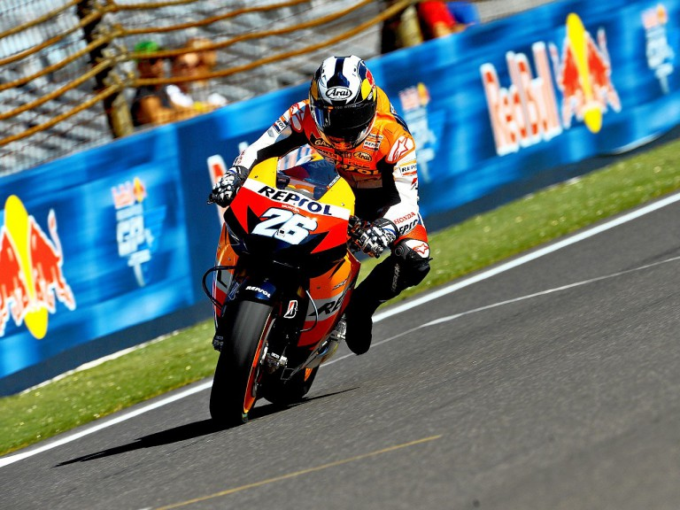 Dani Pedrosa in action at Indianapolis