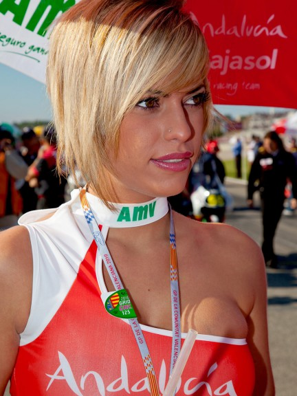 Paddock Girls at the Gran Premio de la comunitat Valenciana