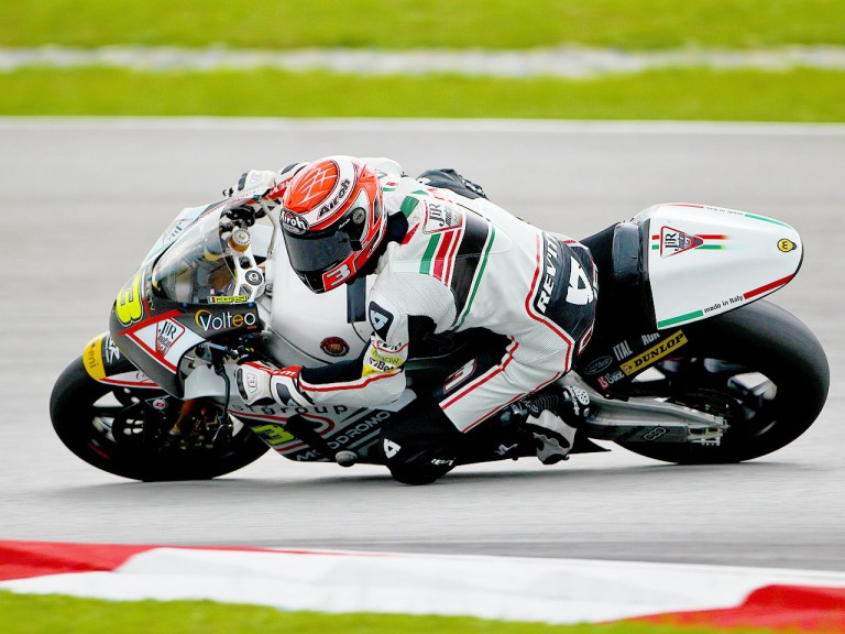 Simone Corsi in action at Sepang