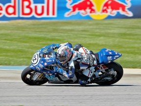 Jason di Salvo in action at Indianapolis