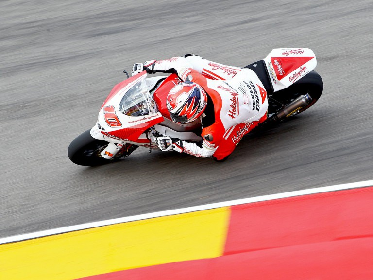 Fonsi Nieto in action at Motorland Aragón