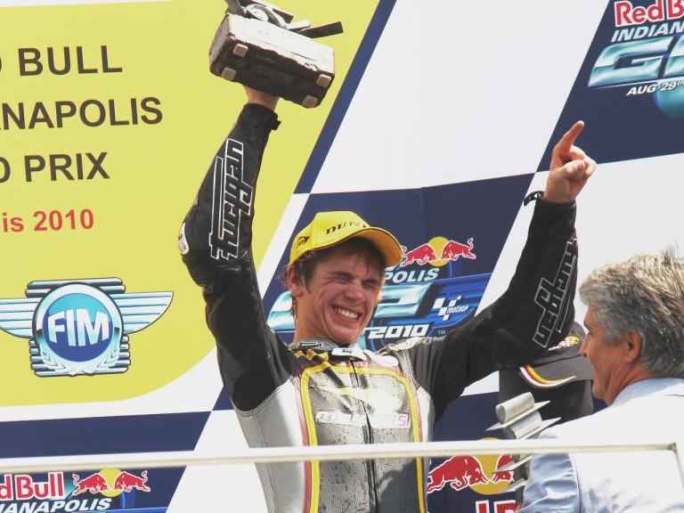 Scott Redding on the podium at Indianapolis