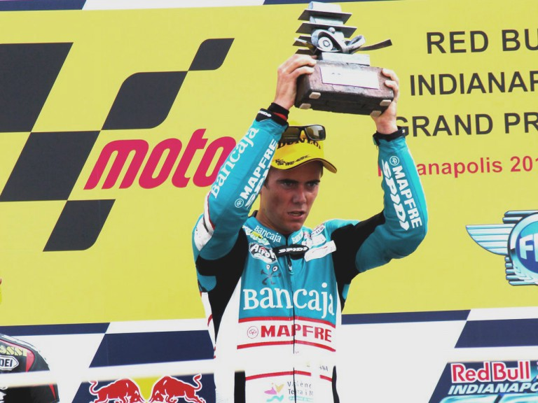 Nico Terol on the podium at Indianapolis