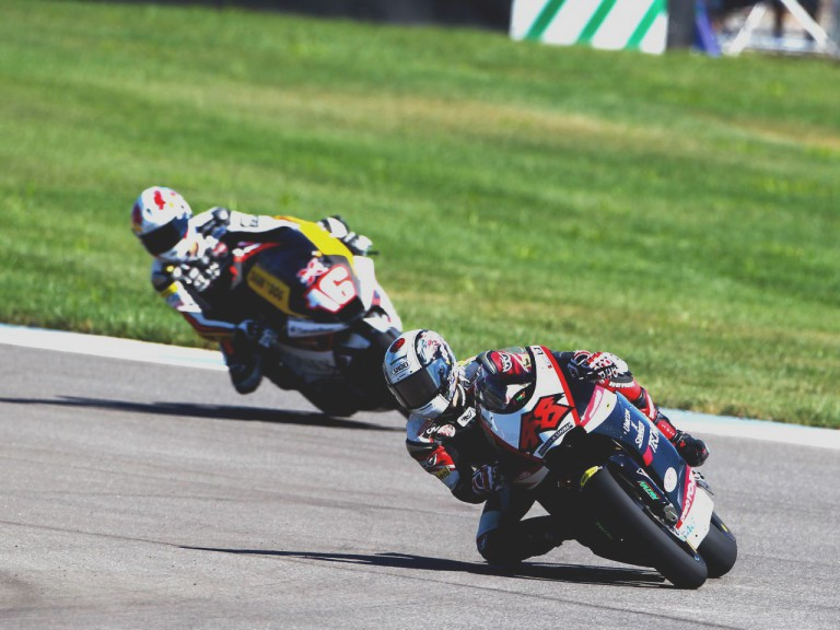 Shoya Tomizawa in action at Indianapolis