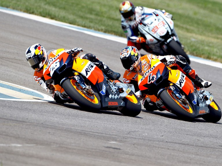 Pedrosa and Dovizioso in action