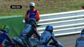 O homem de San Marino, que corre este fim-de-semana como piloto substituto pela equipa JiR Moto2 no seu Grande Prémio caseiro, foi o mais rápido nos primeiros treinos livres.