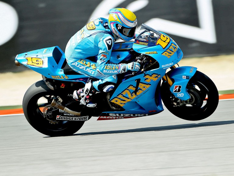 Alvaro Bautista in action at Misano