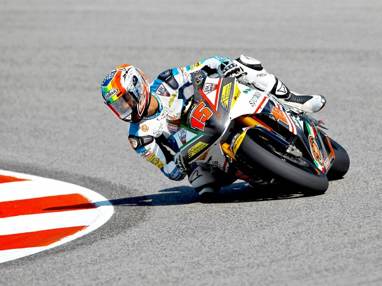 Alex de Angelis in action at Misano
