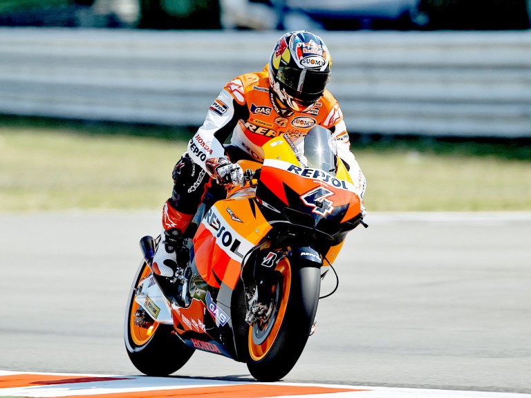 Andrea Dovizioso in action at Misano