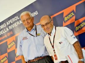 FMI President Paolo Sesti and Dorna Sports CEO Carmelo Ezpeleta