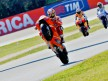 Nicky Hayden pulls off a wheelie During FP1 at Misano