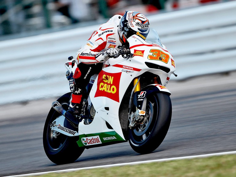 Marco Melandri in action at Misano