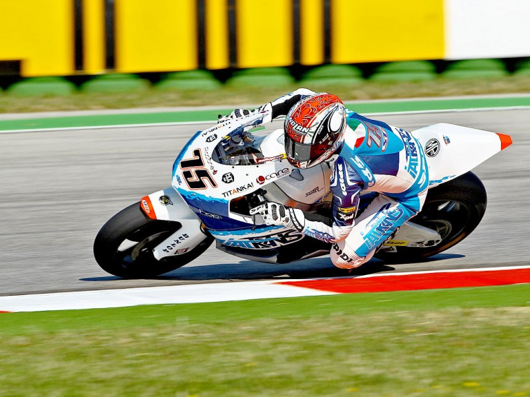 Mattia Pasini in action at Misano