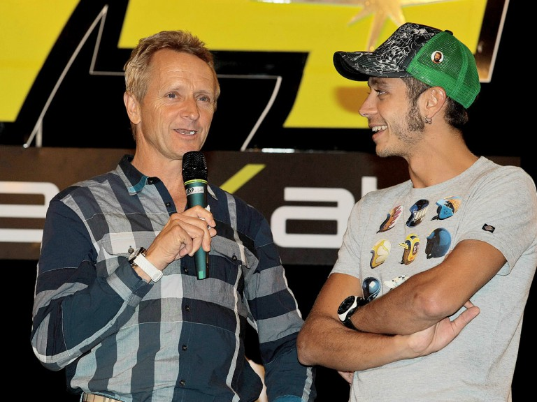 Valentino Rossi and Kevin Schwantz at Dedikato