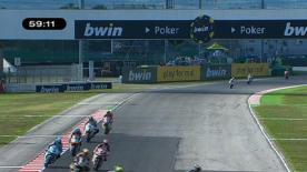 Der Fimmco Speed setzte die schnellste Zeit in FT2, vor Mattia Pasini und Scott Redding.