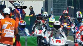 A strong final lap from the Bancaja Aspar rider secured him his second 125cc pole of the season, ahead of Márquez, Terol and Espargaró.