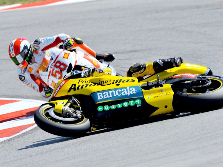 Héctor Barberá crashes during the QP at Misano