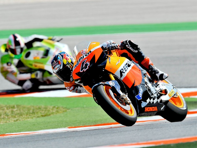 Andrea Dovizioso in action in Misano